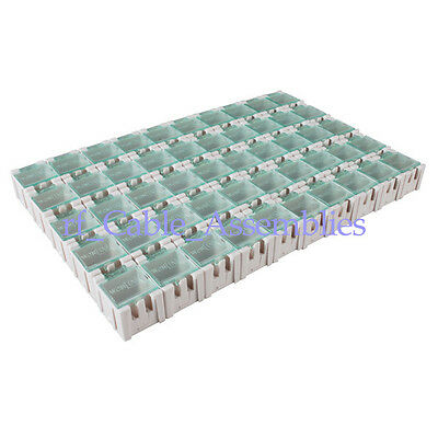 50pcs Components Part Laboratory Storage Electronic SMT SMD Box SMT Anti-Static