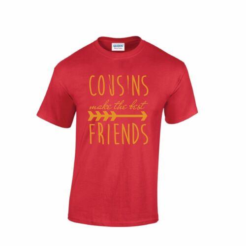 Trendy Cousins Best Friends Mens T-shirt BESTIE Inspired Top Birthday Present