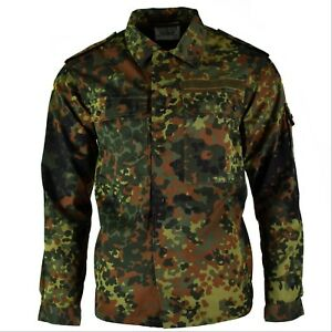 Original-GERMAN-ARMY-SHIRT-ZIPPED-flecktarn-camo-tactical-combat-BW-Army-issue
