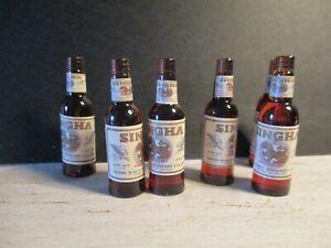 Sur De Soi Maison De Poupées Miniature Bouteille De Singha Beer-afficher Le Titre D'origine