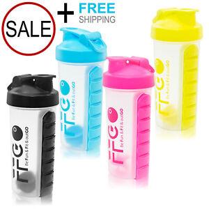 Sport-Gym-Protein-Supplement-Shaker-Bottle-28oz-Cup-Vitamins-Storage-Mixer-Ball