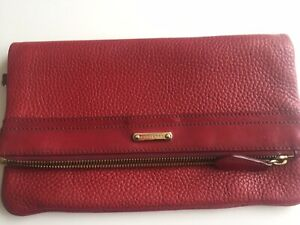 Authentic Red Bridle Burberry London Grainy Adeline Clutch Wristlet