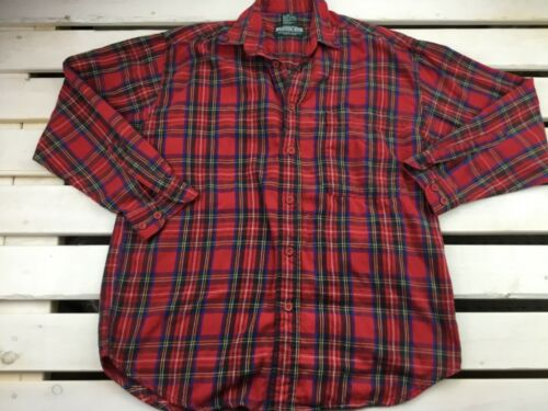 Beaver Canoe Red Plaid Flannel Shirt Oversized Sma
