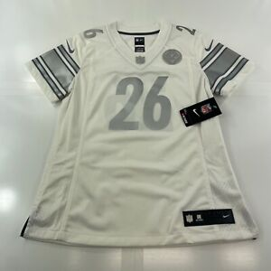 New Nike PITTSBURGH STEELERS Le'Veon Bell Women's Jersey White Silver Medium