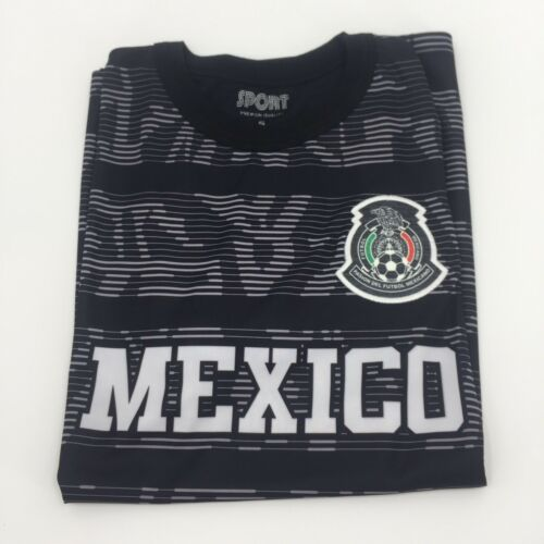 Men/'s Mexico Home Black Soccer Jersey Copa Oro 2019 Mexicana Shirt New Small