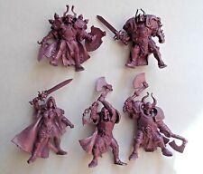 Set of 5 Dark Knights Warriors Plastic Toy Soldier 54mm 1/32 Fantasy Tehnolog