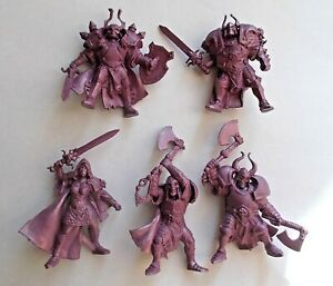 Set-of-5-Dark-Knights-Warriors-Plastic-Toy-Soldier-54mm-1-32-Fantasy-Tehnolog