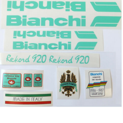 Bianchi Rekord 920 decal set for vintage Italian steel classic bicycle