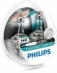 2-x-Bombillas-Philips-X-Treme-Vision-H4-130-Extreme-Xtreme-Faros-Halogeno-Coche