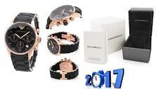 NEW GENUINE EMPORIO ARMANI AR5906 ROSE GOLD SILICONE WOMEN'S LADIES WATCH