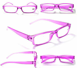 R174 Super Cheap Trendy Fashion Purple Reading Glasses+1.0+1.5+2.0+2.5+3.0