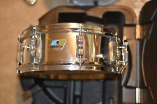 """Ludwig 14"""" chrome snare drum 80's retro with Ludwig snare stand NO RESERVE! WoW!"""