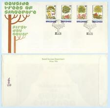 Singapore 1976 #243-46 Wayside Trees Nature FDC First Day Cover plus Insert