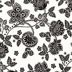 COTTON-OXFORD-DUVET-COVERING-CURTAIN-UPHOLSTERY-FABRIC-FLORAL-BLACK-WHITE-44-034-W