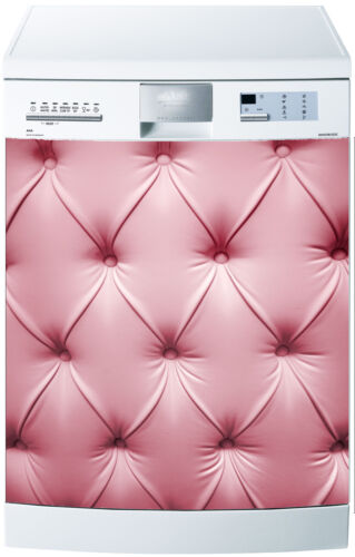 Sticker lave vaisselle déco cuisine électroménager capiton rose réf 586 60x60cm