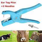 Metal Goat Sheep Hog Cattle Animal Ear Tag Plier Applicator Puncher Tagger Tool