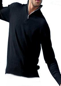 Balldiri 100Cashmere Troyer Zwart Xl 2 Fädig Heren Pullover kiOPuXZ