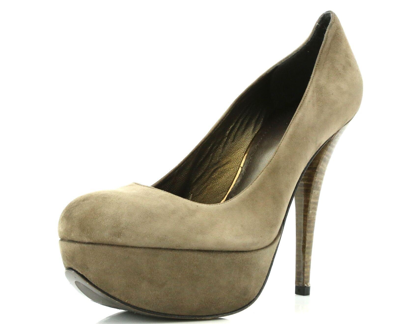 Stuart Weitzman Woman's Brown Suede Platform Heels 3464 Size 9 M NEW!