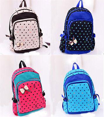 Women Girl Casual Canvas Shoulder Backpack School Bag Satchel Bookbag Fashion