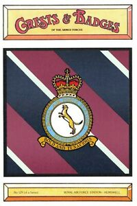 Postcard-RAF-Royal-Air-Force-Station-HEMSWELL-Crest-Badge-No-129-NEW
