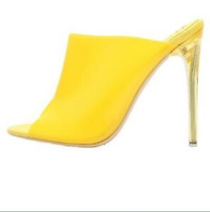 1319ef219 213-84 Transparent Open Toe Clear PVC Upper Stiletto High Heel Slip ...