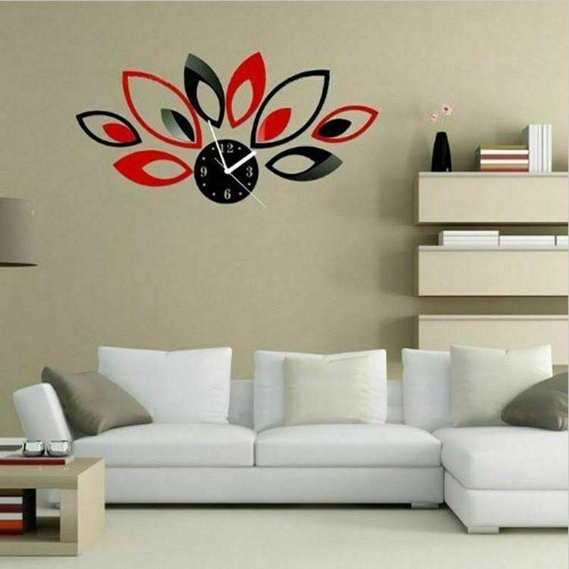 32Pcs Unique 3D Mirror Acrylic Wall Sticker DIY Art Vinyl Decal Home Decor W8