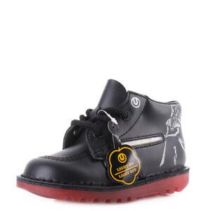f3290fcfd2ea7f Kickers Infant Boys Vader Lightsaber Leather Black Star Wars Ankle ...