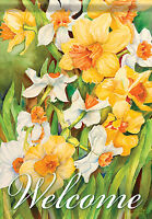 Spring Daffodil Welcome Garden Flag Double Sided Flower Decorative 13x18