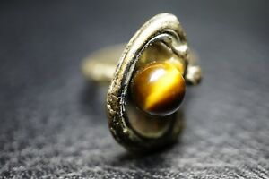 Designer-Ring-Tiger-Auge-830-Silber-um-1970-a58