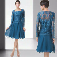 Plus Size Mother Of The Bride/ Groom Outfit Evening Party Wedding Vintage Dress
