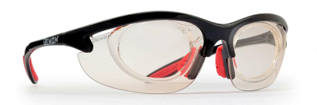 DEMON 285 schwarz photochromatic verglasbare optische Sportbrille Radbrille
