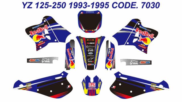 7030 YAMAHA YZ 125-250 1993-1995 Autocollants Déco Graphics Stickers Decals Kits