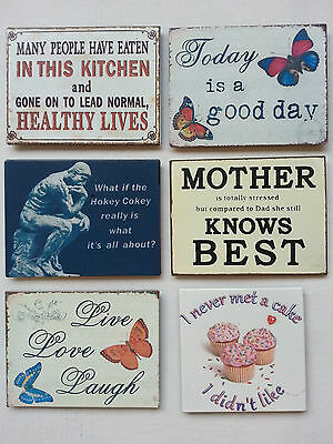 Retro Style FRIDGE MAGNETS with Various Humorous Quotes