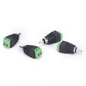 4-pcs-Speaker-Wire-cable-to-Audio-Male-RCA-Connector-Adapter-Jack-Plug-J-amp-C