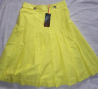 Marks And Spencer Limited Collection Yellow Skirt Size 8 - Tags Fully Lined
