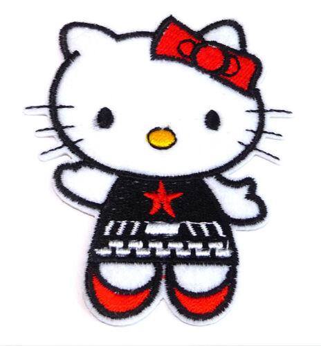 Hello Kitty Bügelbild Aufnäher Applikation Patch Nähen Basteln Verzieren