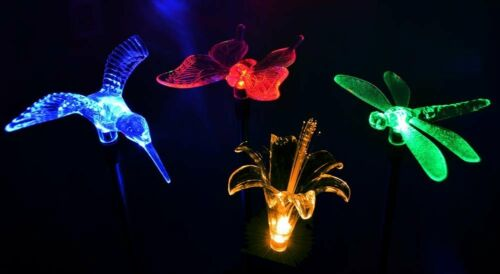 Solar Powered Dragonfly Yard Garden Stake Color Changing LED Light