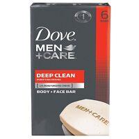 Dove Men + Care Body - Face Bar, Deep Clean 4 Oz, 6 Ea (pack Of 2) on sale