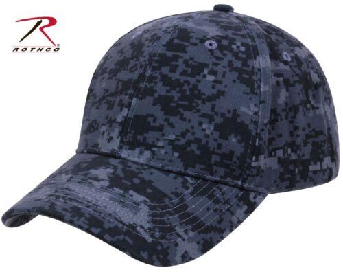 Supreme Low Profile Adjustable Midnight Blue Digital Camouflage Baseball Cap Hat