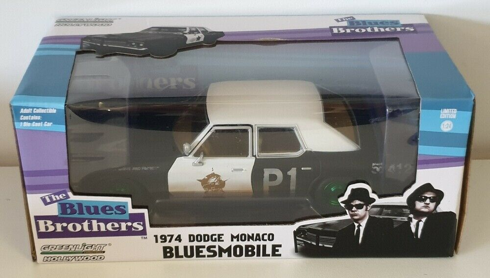 1 24 Grünlight 1974 Dodge Monaco Police Car from The Blaus Brothers  CHASE