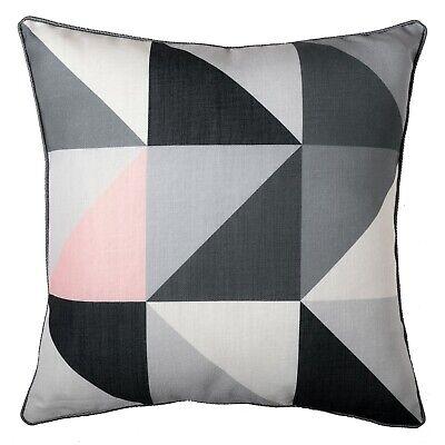 "Geometric Cushion Blush Pink Pastel Grey Throw Pillow Sofa Cover Case 45cm 18/"""