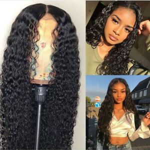 Brazilian Hair Wig Long Curly Black Synthetic Full Wigs With Baby Hair For Women Ebay