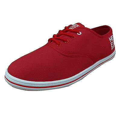 Henleys Men's Stash Canvas Trainers Red
