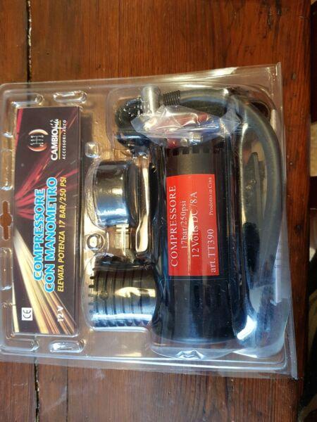Energico 12v Kit Compressore Aria Gonfiatore Gomma 250 Psi 17 Bar Con Manometro Per Auto