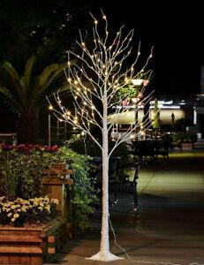 image is loading 4ft white birch christmas tree pre lit led