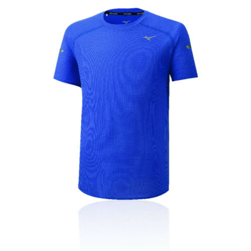 Mizuno Herren DryAeroFlow Kurzarm T Shirt Tee Top Sportshirt Laufshirt Blau