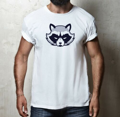 Funny Cartoon Angry raton laveur animal Wildlife Nature T-shirt homme tshirt Tee Top