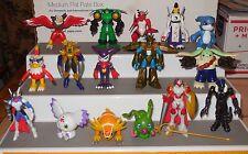 "2001 Bandai 16 Digimon Digital Monsters 2"" Action Figure collection Lot HTF Rare"