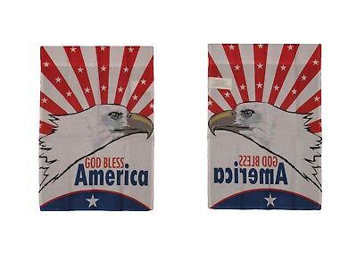 12x18 God Bless America American Eagle Sleeved Garden 12x18 Flag