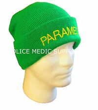 PARAMEDIC Beanie / Woolly Hat (LIGHT GREEN) Ambulance St John Medic EMT 999